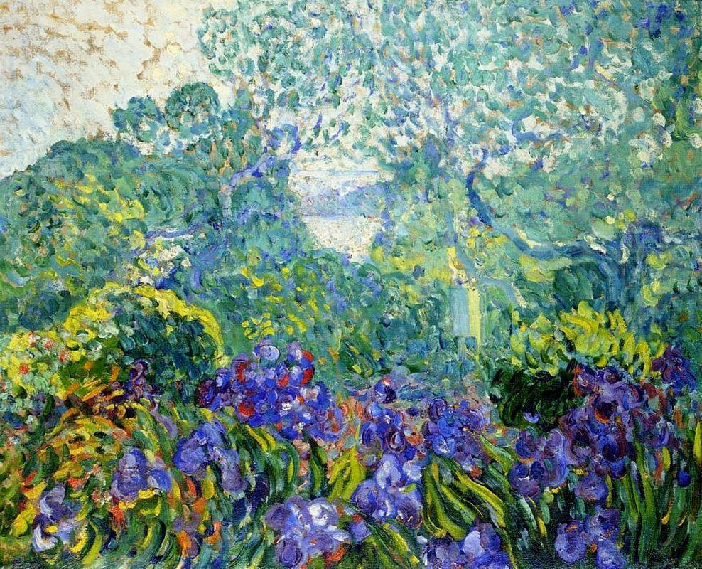Landscape with Violet Irises - Louis Valtat