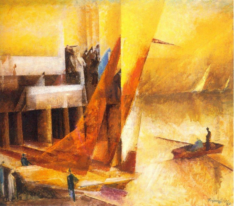 Landungssteg  - Lyonel Feininger