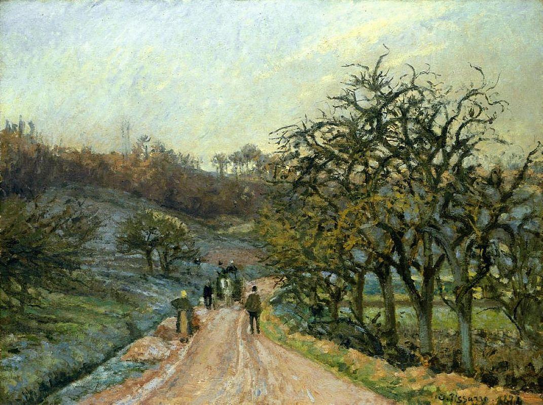 Lane of Apple Trees near Osny, Pontoise - Camille Pissarro
