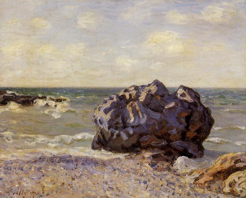 Langland Bay, Storr s Rock, Morning - Alfred Sisley