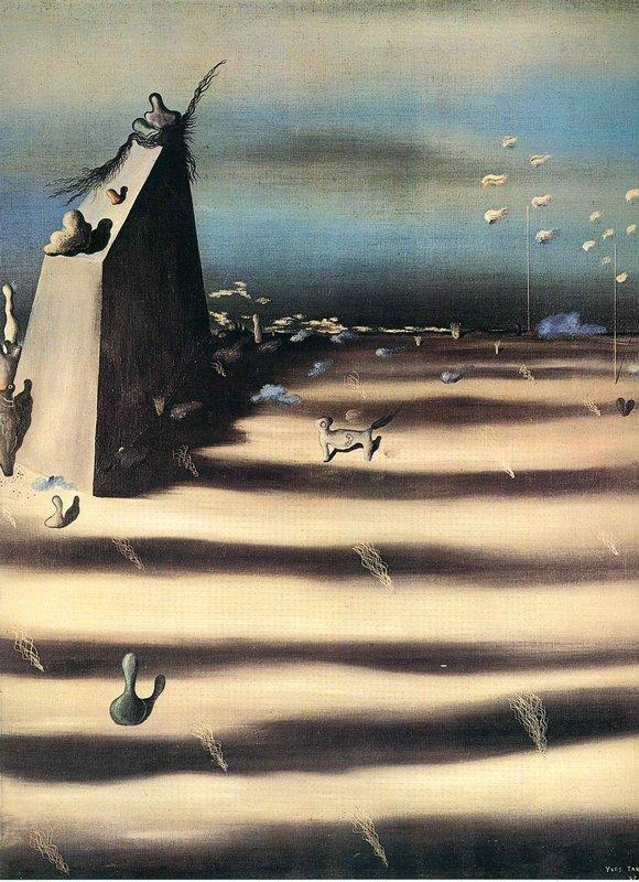 Large Painting Representing a Landscape - Yves Tanguy