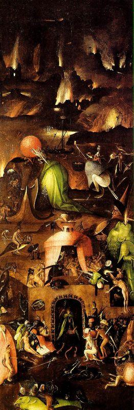 Last Judgment,  right wing - Hieronymus Bosch