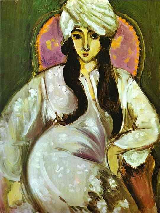 Laurette in a White Turban - Henri Matisse