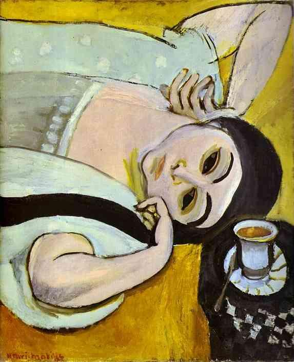 Laurette's Head with a Coffee Cup - Henri Matisse