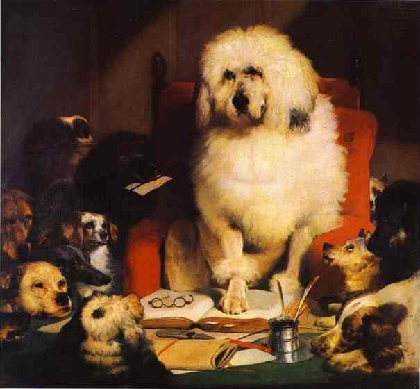 Laying Down the Law - Edwin Henry Landseer