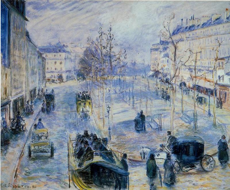 Le Boulevard de Clichy - Camille Pissarro