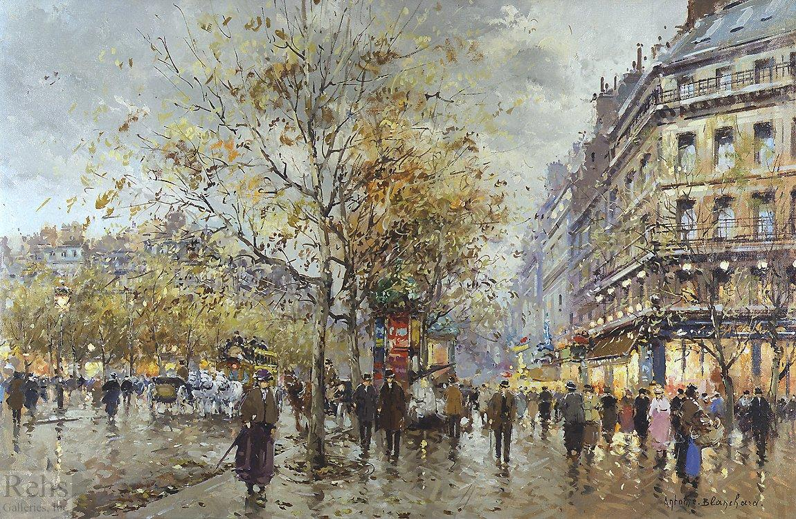 Le boulevard Paris - Antoine Blanchard