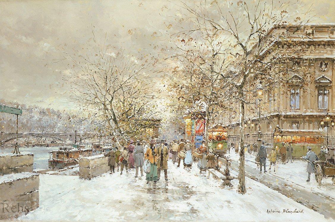 Le louvre Passerelle des Arts - Antoine Blanchard