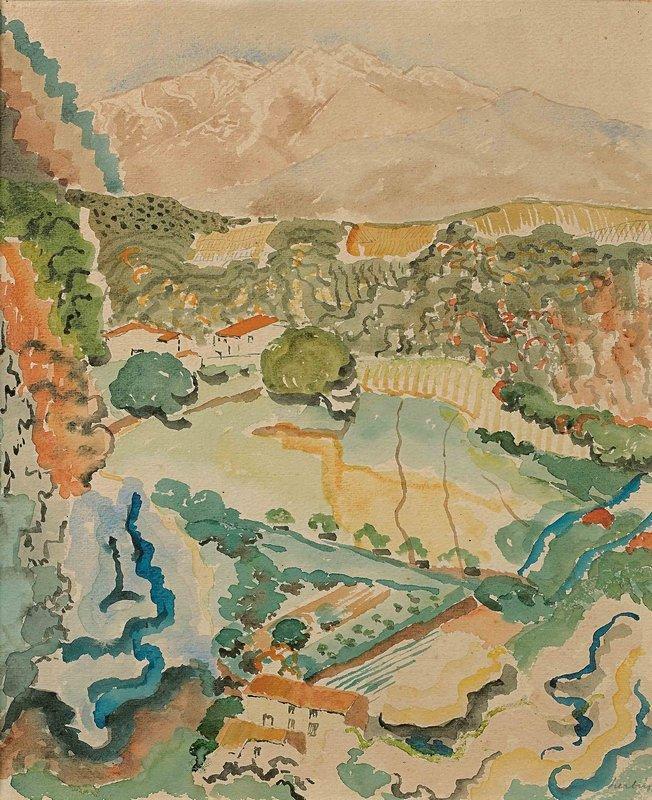 Le massif du Canigou  - Auguste Herbin
