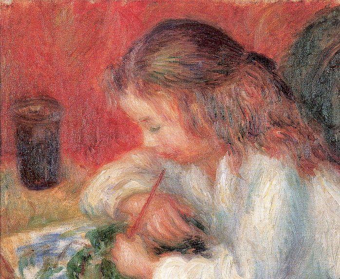 Lenna Painting (The Artist's Daughter) - William James Glackens