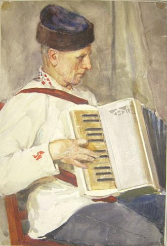 Lettish Accordionist - Nikolay Bogdanov-Belsky
