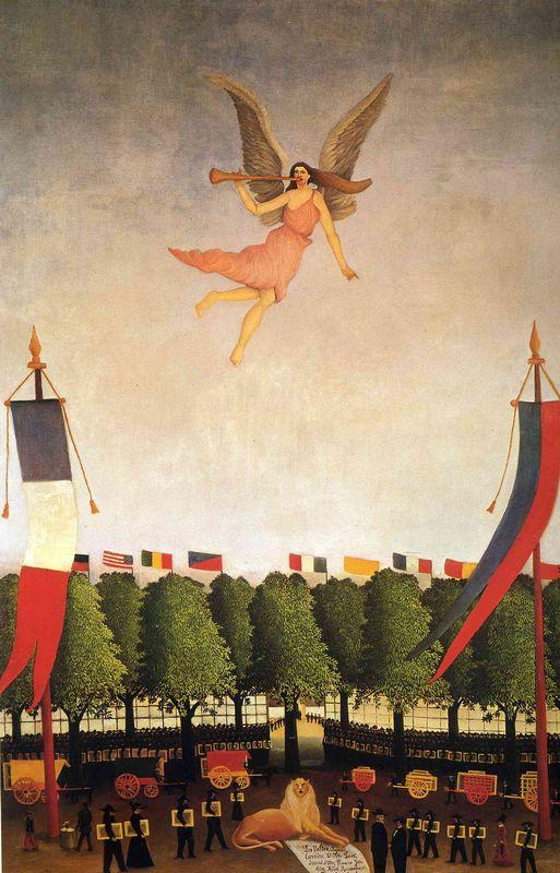 Liberty Inviting Artists to Take Part in the 22nd Exhibition of the Society of Independent Artists - Henri Rousseau