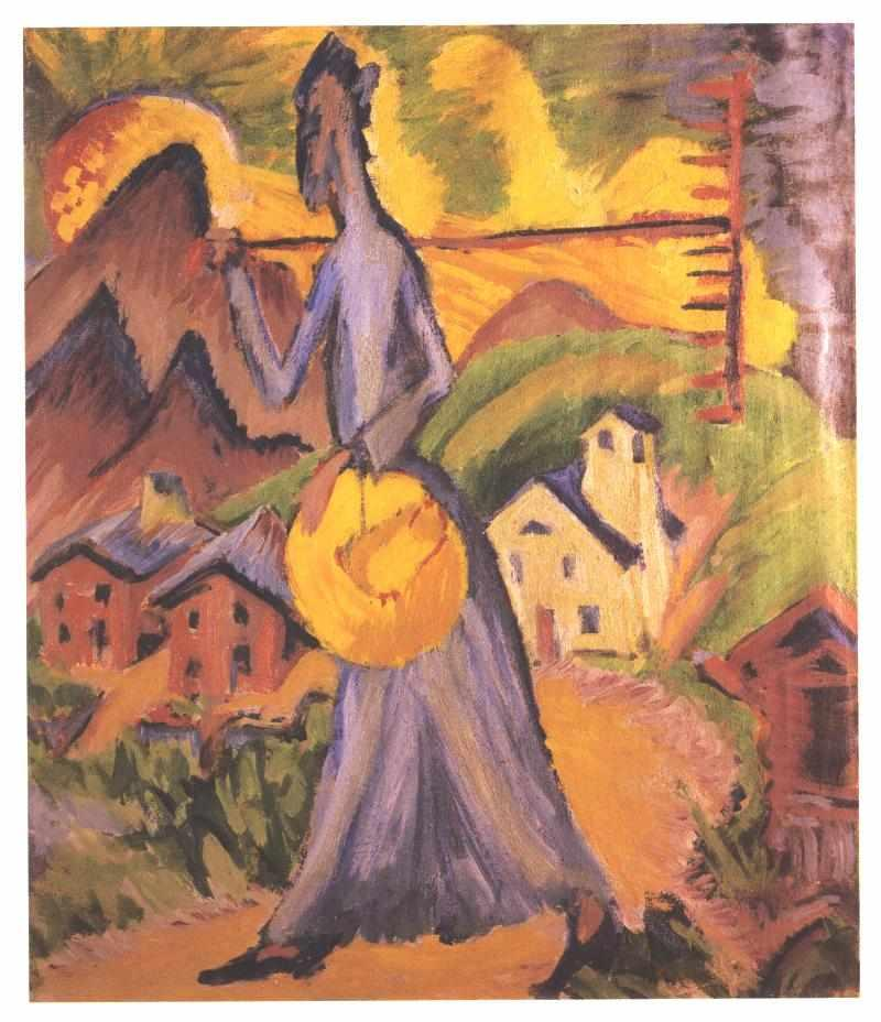 Life on the Alpine Pasture - Ernst Ludwig Kirchner