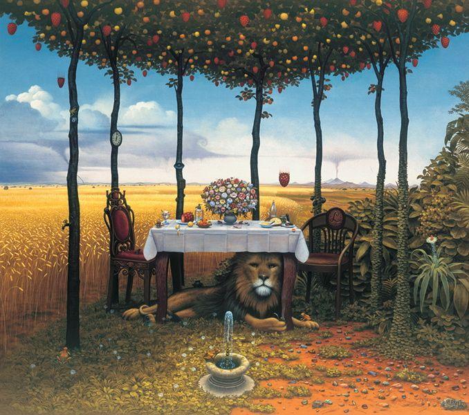 Lion afternoon - Jacek Yerka