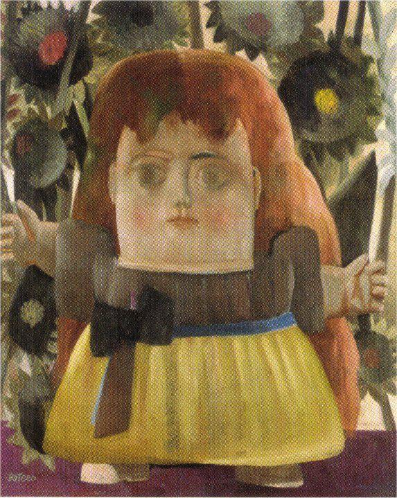Little Girl in the Garden - Fernando Botero