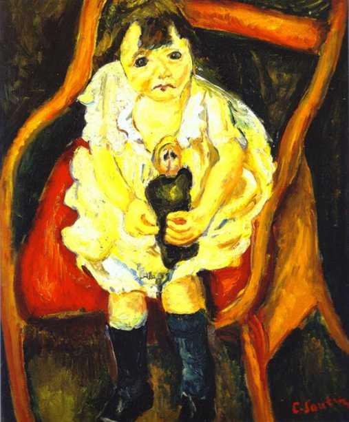 Little Girl with Doll - Chaim Soutine