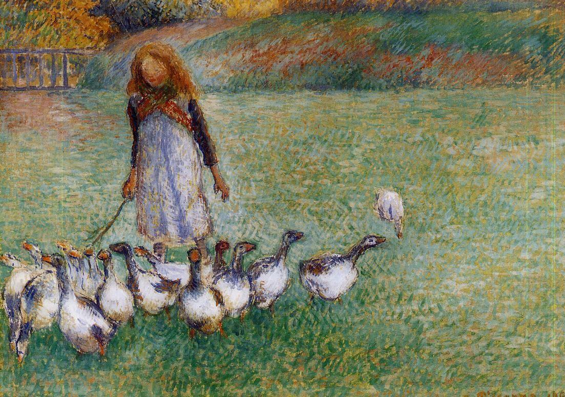 Little Goose Girl - Camille Pissarro