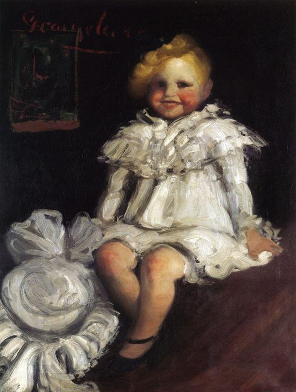 Little Lore with Her Hat - George Luks