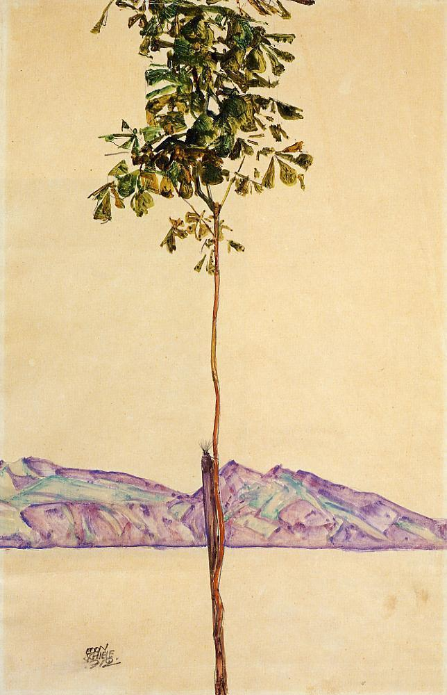 Little Tree (Chestnut Tree at Lake Constance) - Egon Schiele