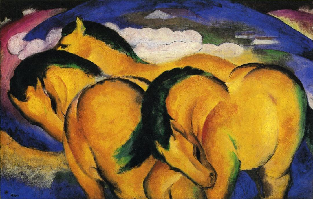 Little Yellow Horses - Franz Marc