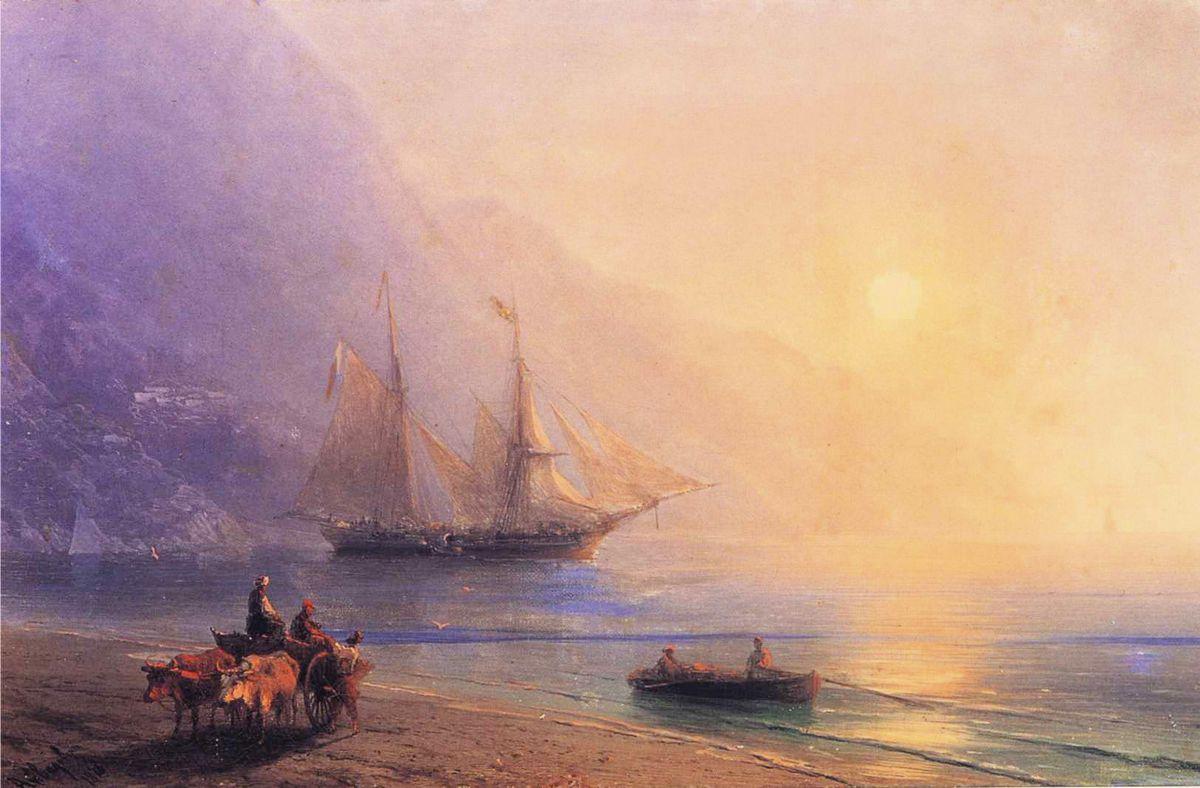 Loading Provisions off the Crimean Coast - Ivan Aivazovsky