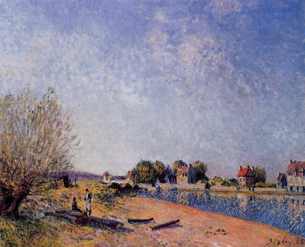 Loing Canal at Saint Mammes - Alfred Sisley