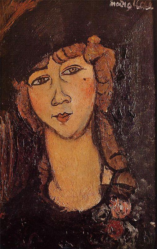 Lolotte (Head of a Woman in a Hat) - Amedeo Modigliani