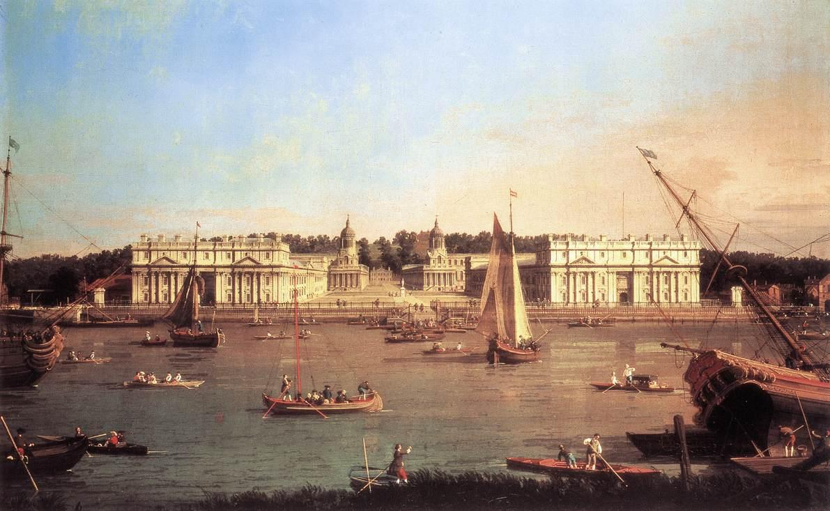 London: Greenwich Hospital from the North Bank of the Thames - Canaletto