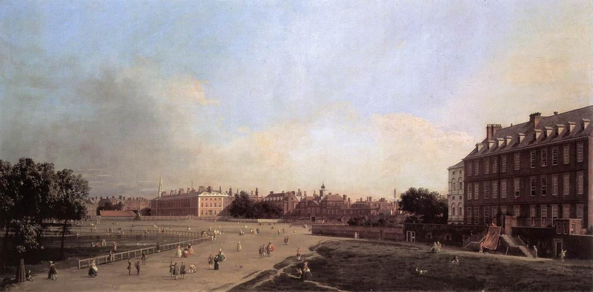 London: the Old Horse Guards from St James's Park - Canaletto