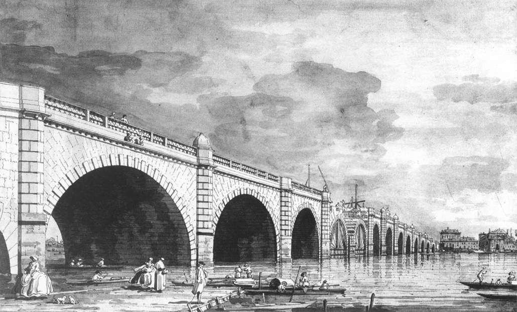London: Westminster Bridge under Repair - Canaletto