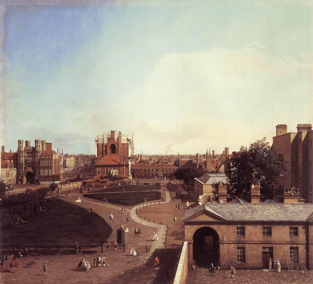 London: Whitehall and the Privy Garden from Richmond House - Canaletto