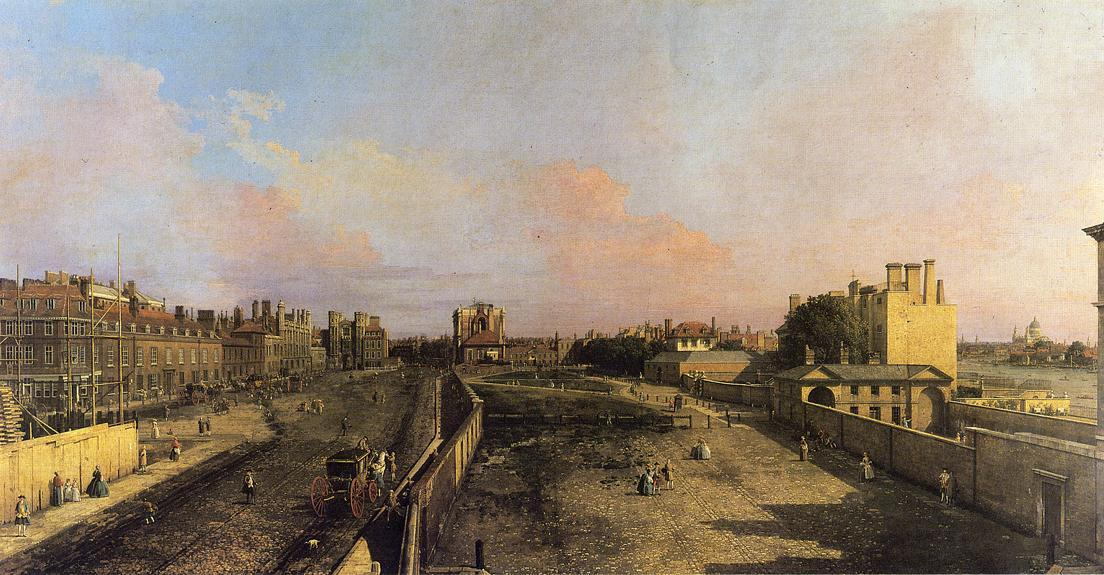 London Whitehall and the Privy Garden looking North - Canaletto