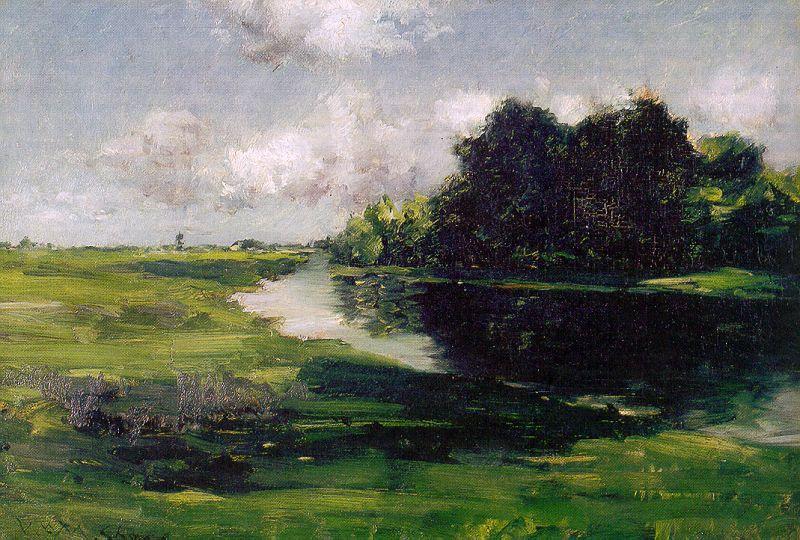 Long Island Landscape after a Shower of Rain - William Merritt Chase