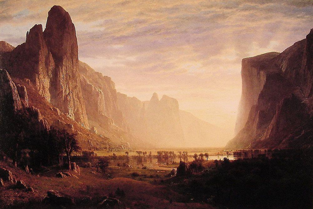 Looking Down Yosemite Valley, California - Albert Bierstadt