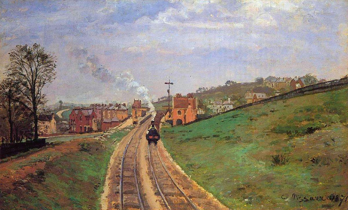Lordship Lane Station, Dulwich - Camille Pissarro