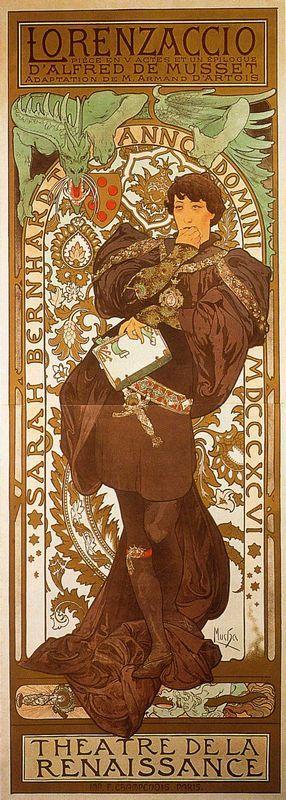 Lorenzaccio - Alphonse Mucha