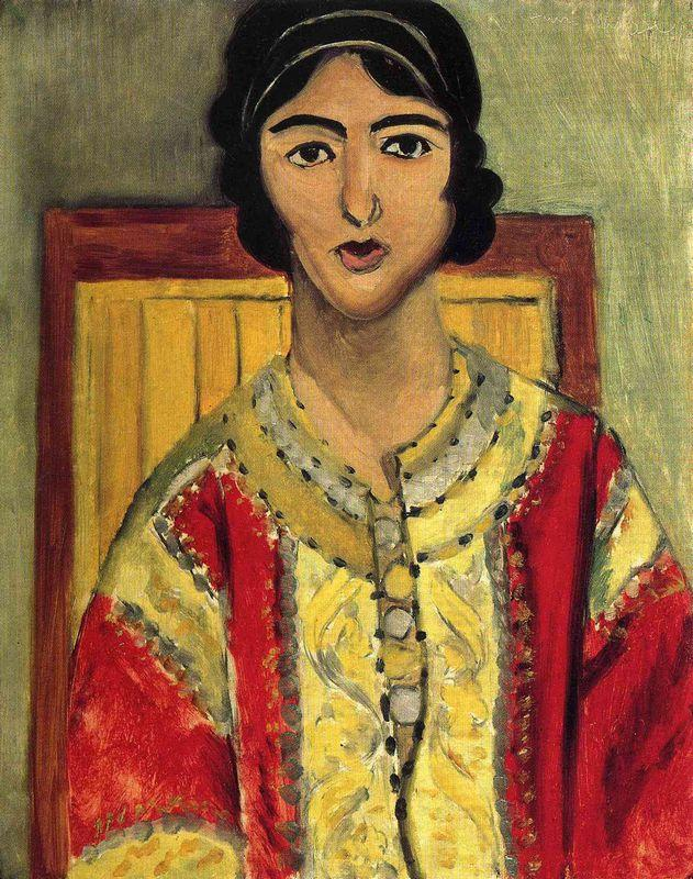 Lorette with a Red Dress - Henri Matisse