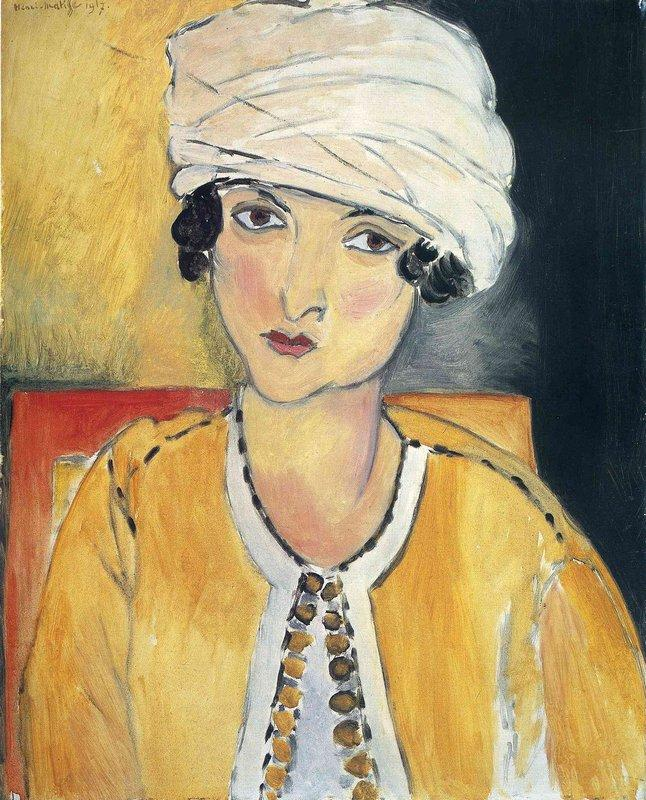 Lorette with Turban and Yellow Vest - Henri Matisse