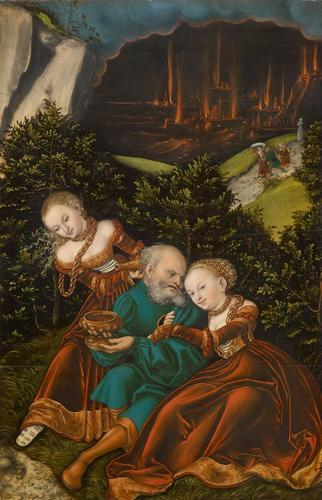 Lot and his daughters - Lucas Cranach the Elder