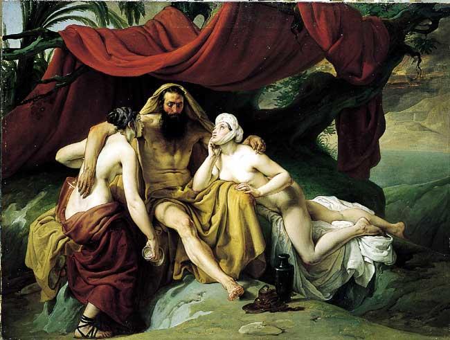 Lot and His Daughters - Francesco Hayez