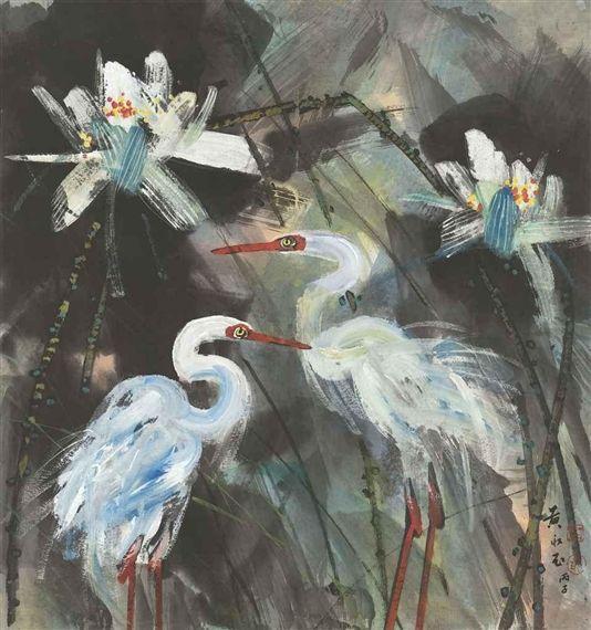 Lotus and Egrets - Huang Yongyu