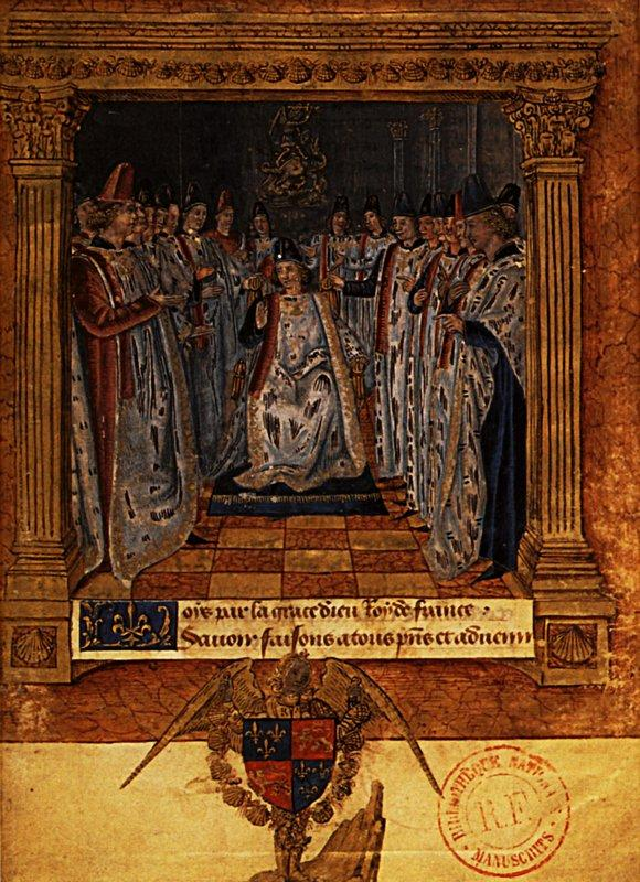 Louis XI chairing a chapter - Jean Fouquet