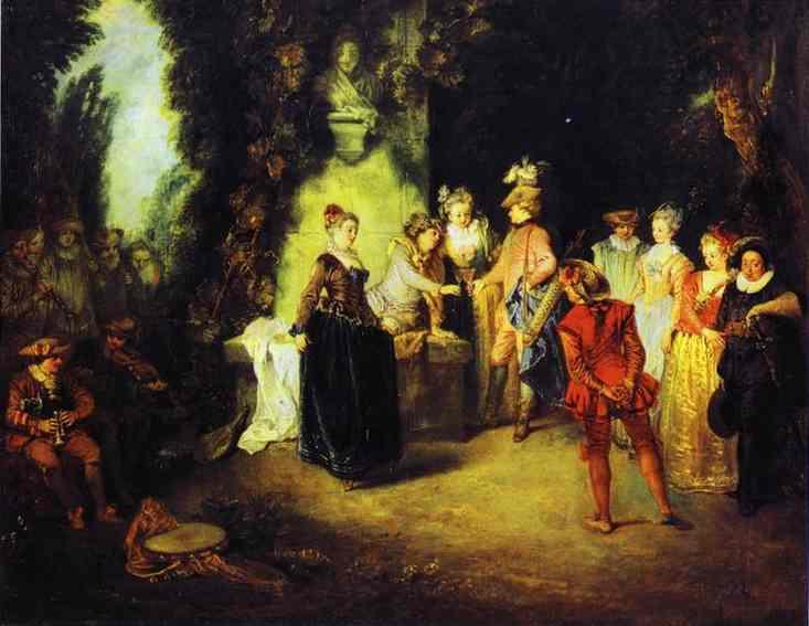 Love in the French Theather - Antoine Watteau