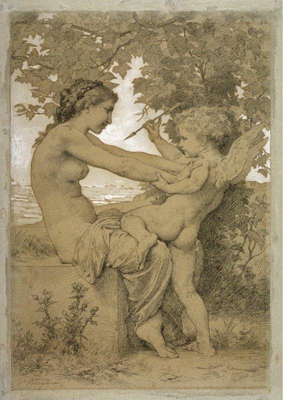 Love`s Resistance - William-Adolphe Bouguereau