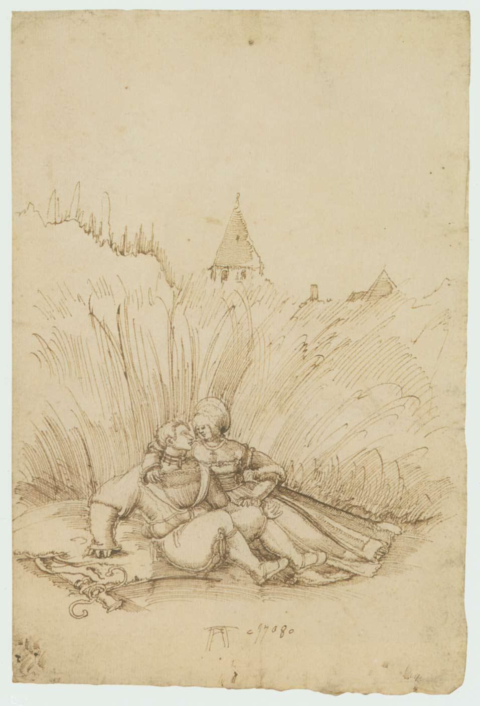 Lovers in a Hay Field - Albrecht Altdorfer