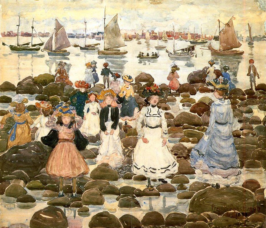 Low Tide, Beachmont - Maurice Prendergast