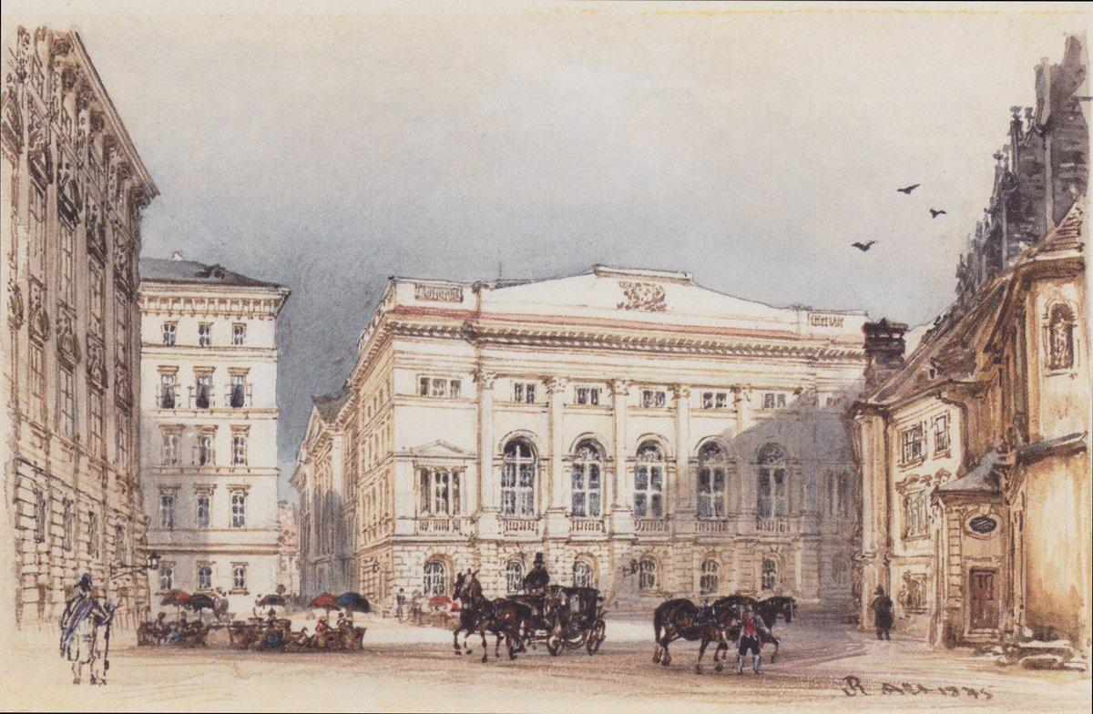 Lower Austrian country house in Vienna Viewed from Minoritenplatz - Rudolf von Alt