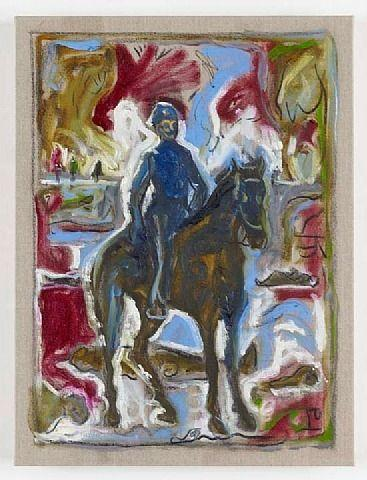 Lt. Sydney A. Cloman, First Infantry, on His Horse on the Wounded Knee Battleground  - Billy Childish