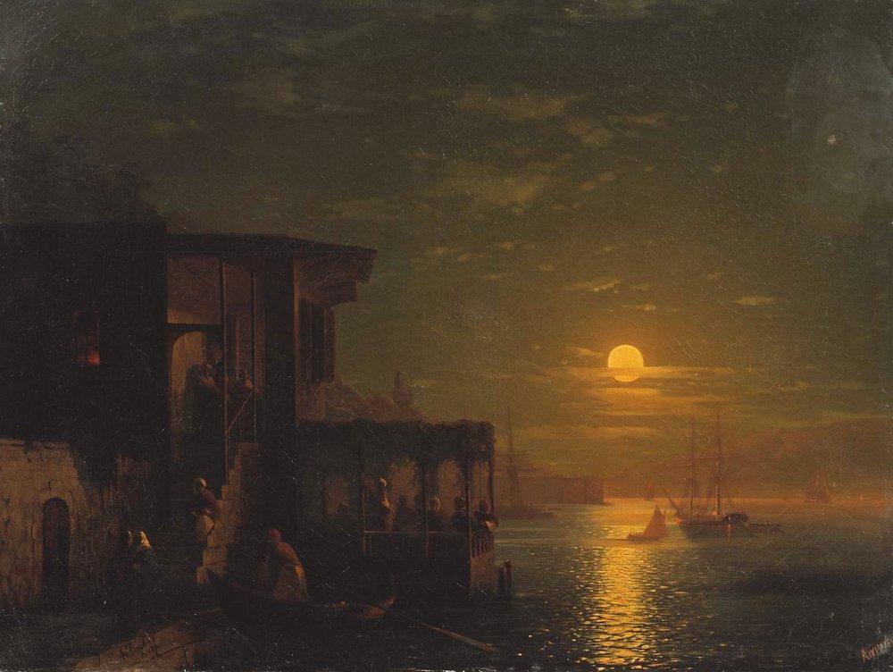 Lunar night at the sea - Ivan Aivazovsky