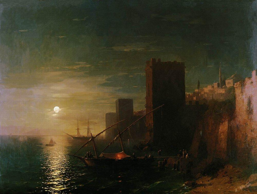 Lunar night in the Constantinople - Ivan Aivazovsky